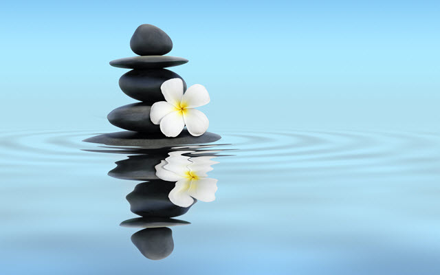 Zen Stones With Frangipani.